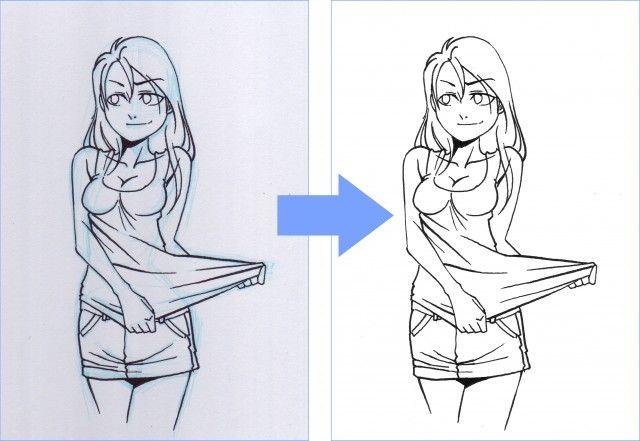 Comment enlever le croquis bleu clair sous photoshop - Croquis naruto ...