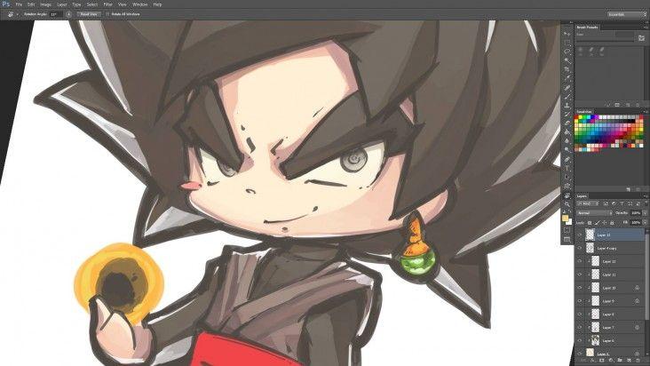 Comment Dessiner Black Goku De Dragon Ball Super En Version Chibi