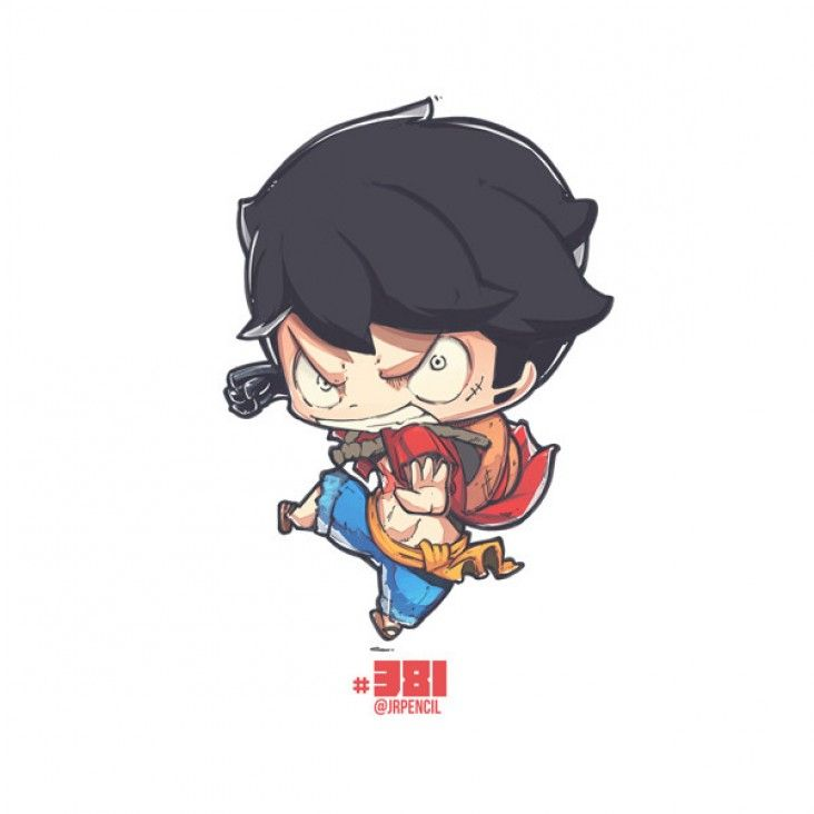 Comment dessiner luffy de one piece en version chibi - Comment dessiner luffy ...