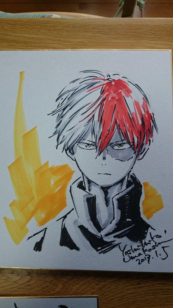 My Hero Academia : Dessins sur shikishis par le character ...
