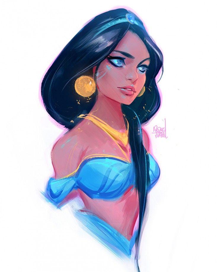 Comment dessiner jasmine d 39 aladdin - Dessiner aladin ...