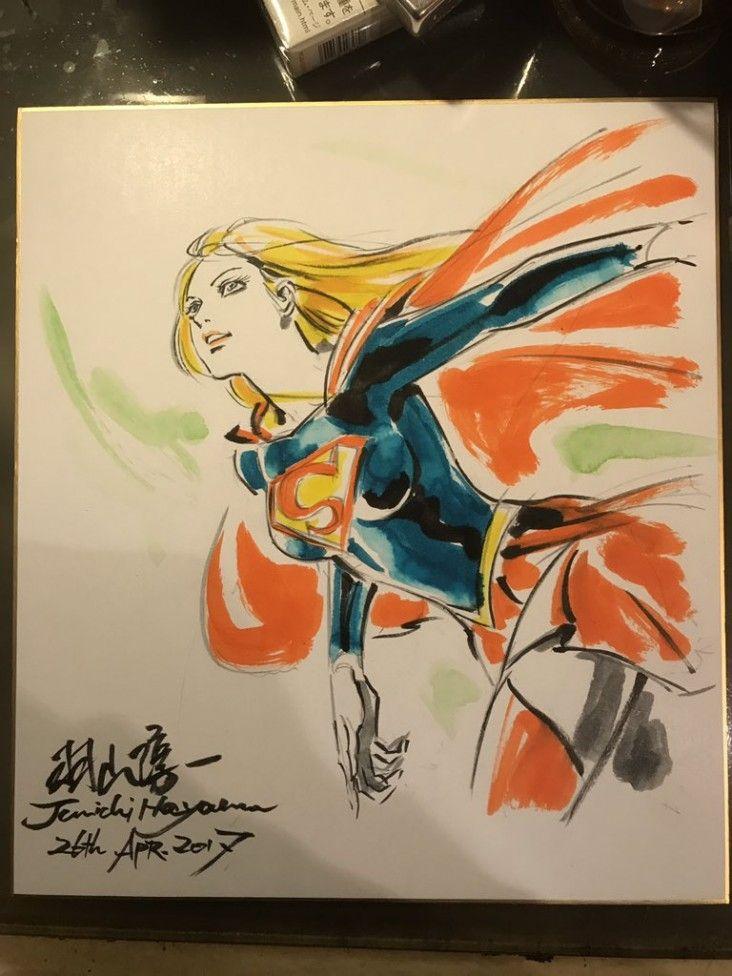 Dessins comics sur shikishis wonder woman batman le joker catwoman supergirl - Comics dessin ...