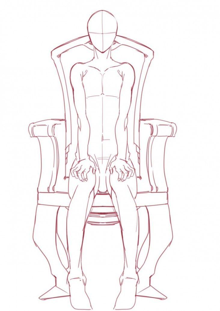 Modeles Pour Dessiner Un Homme Assis Dans Un Fauteuil