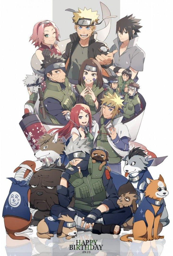 Naruto dessins anniversaire de kakashi - Dessin naruto manga ...
