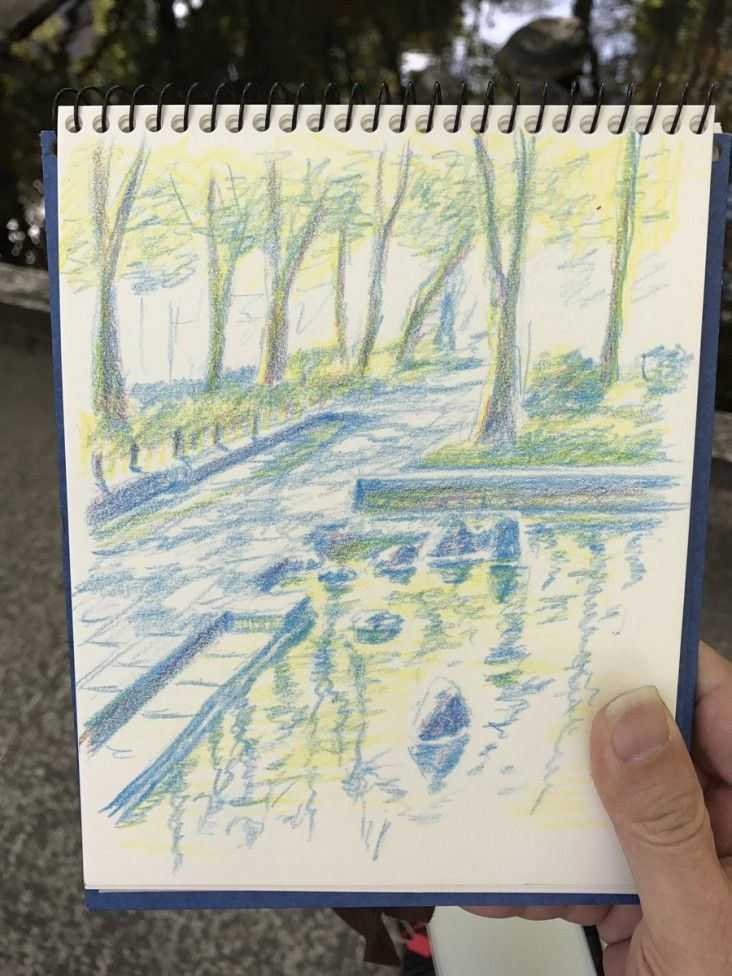 Dessiner Un Paysage Aux Crayons De Couleurs Nagoya City Hisayodo