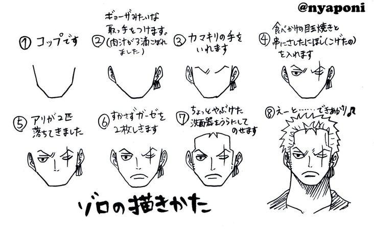 One Piece Apprendre A Dessiner Roronoa Zoro Avec Nyaponi