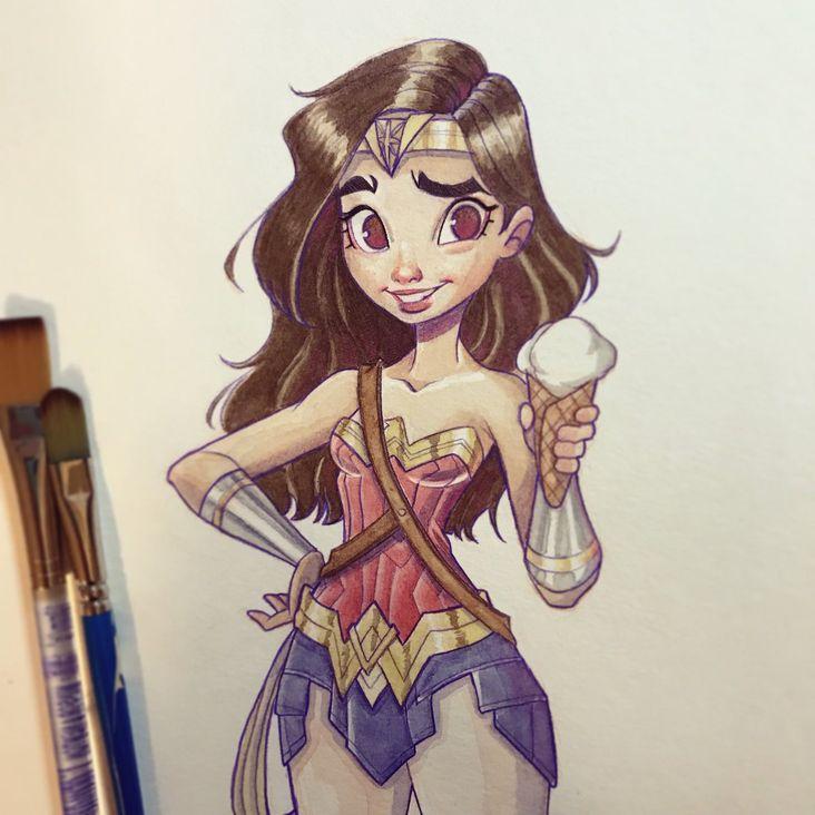 Tuto Dessin Wonder Woman A L Aquarelle