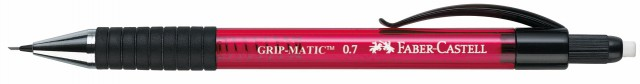Porte-Mine GRIP MATIC Faber-Castell 0.7 mm Rouge