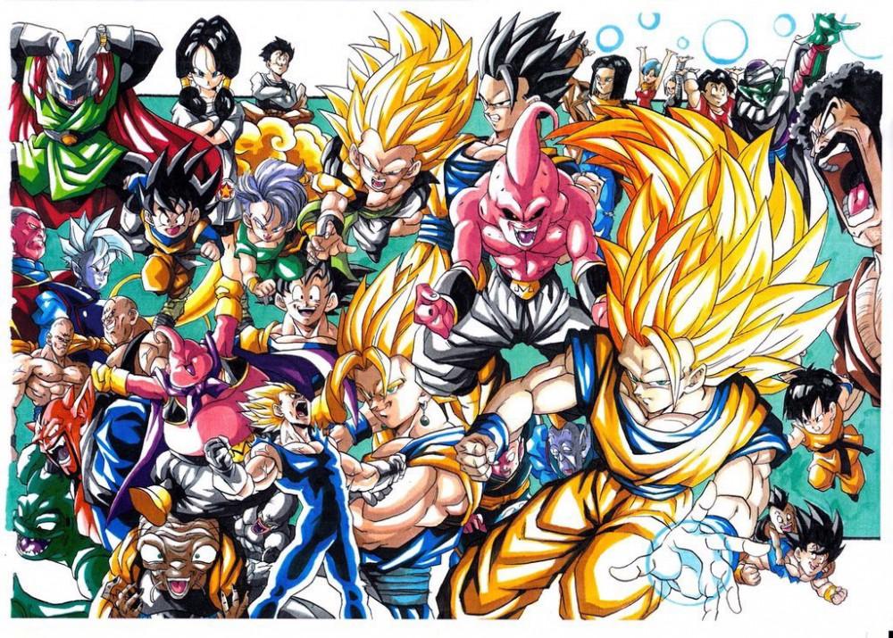 Dessins Dragon Ball aux feutres COPIC par youngjijii