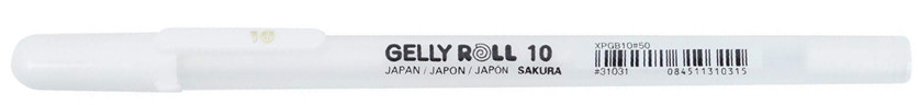 GELLY ROLL Blanc 10 (Epais)