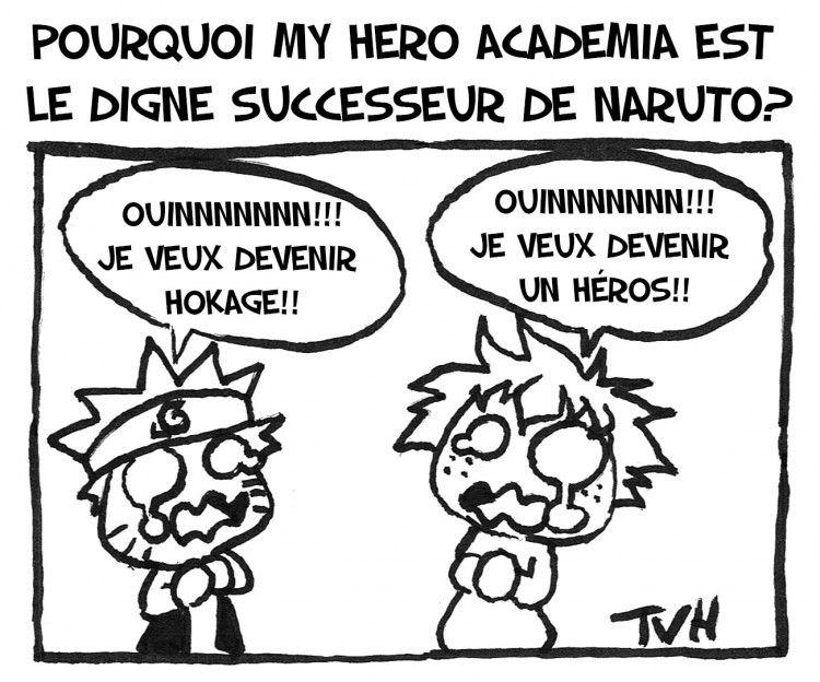 Pourquoi My Hero academia est  le digne successeur de Naruto?