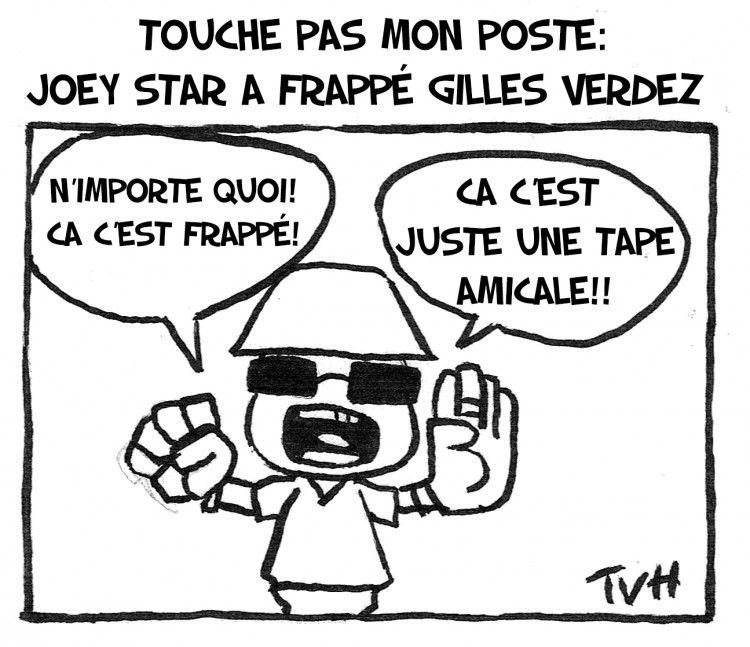 Touche Pas Mon poste: Joey Star a frappé Gilles Verdez