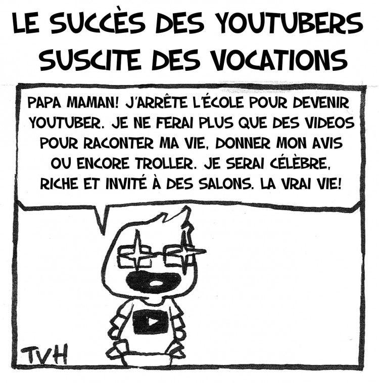 Le succès des youtubers  suscite des vocations