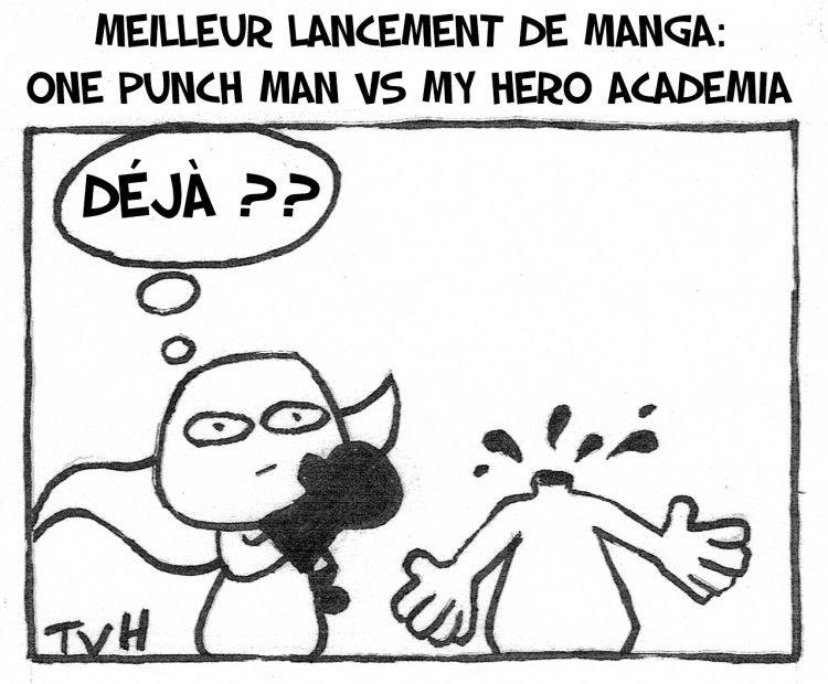 Meilleur lancement de Manga: One Punch Man vs My hero academia
