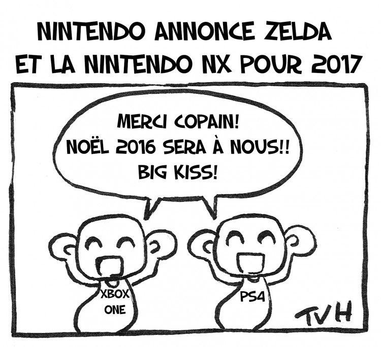 Nintendo annonce Zelda et la nintendo NX pour 2017