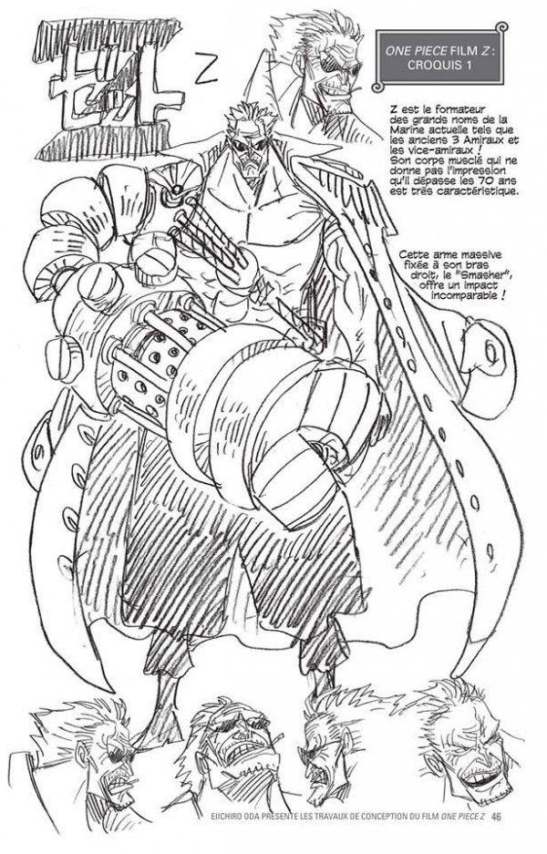 Extrait Dun Manga De Croquis De One Piece Z Par Eiichiro Oda Offert