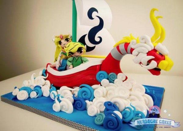 Un gâteau Legend of Zelda.