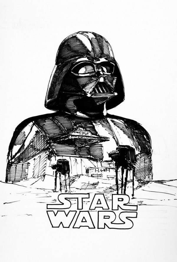 Star Wars Dessiner Dark Vador