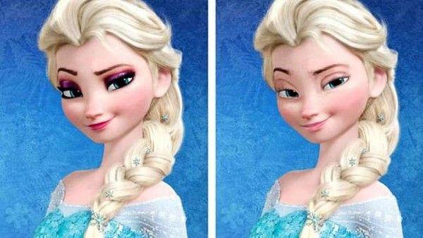 la princesse elsa sans maquillage la reine des neiges. Black Bedroom Furniture Sets. Home Design Ideas