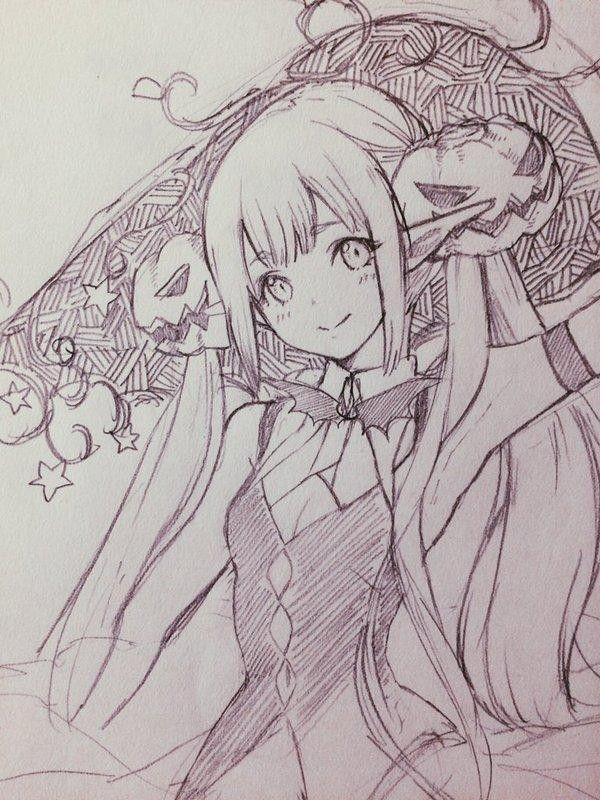Dessin illustration sketch croquis fille par llcakoll - Dessin de manga fille ...
