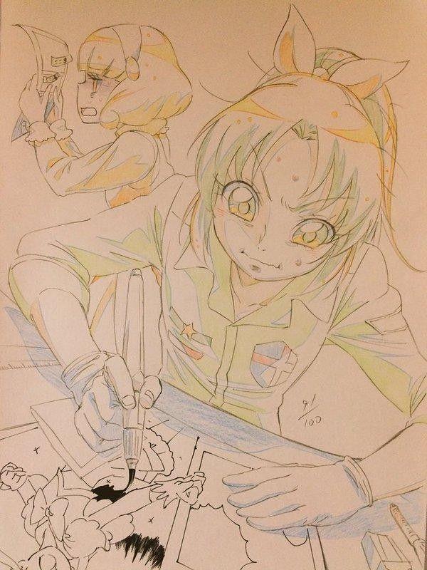 Dessiner Un Manga Croquis Sketch Par Goro1982 Pretty Cure Crayons De