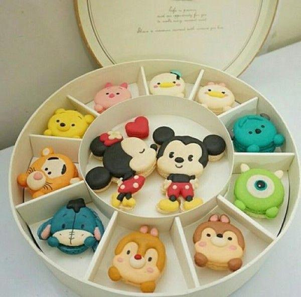 Joli Boite Macarons Tsum Disney