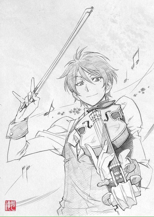 Dessin violon par xi tsune - Dessiner un violon ...