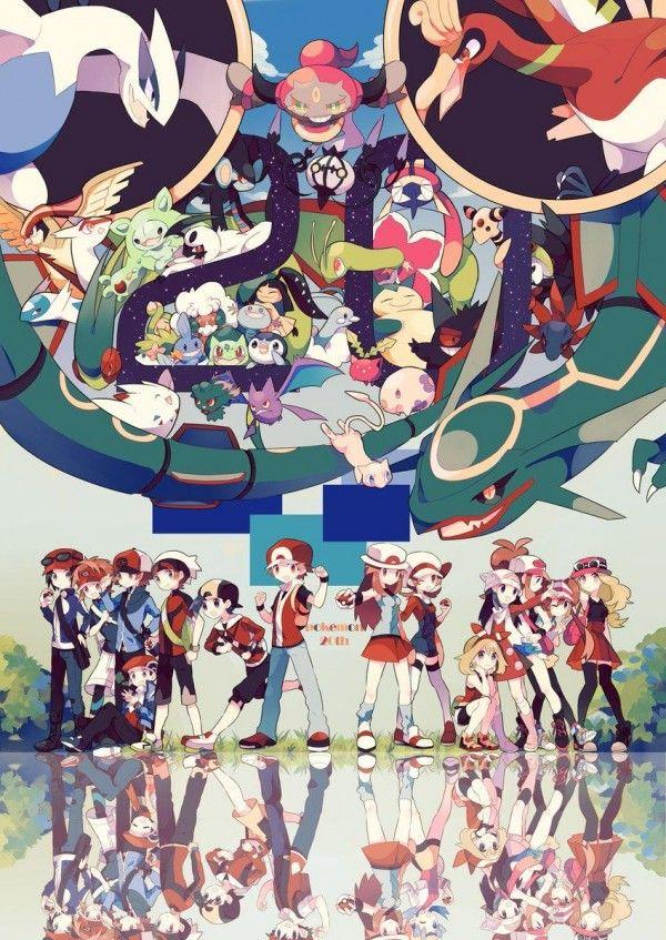 Dessin Fanart Pokemon 20eme Anniversaire Par Nagatukiariake2