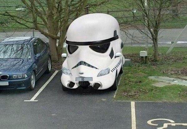 et si un trooper avait une voiture star wars. Black Bedroom Furniture Sets. Home Design Ideas