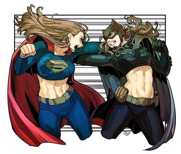 dessin batman v superman l 39 aube de la justice version f minine par okada. Black Bedroom Furniture Sets. Home Design Ideas