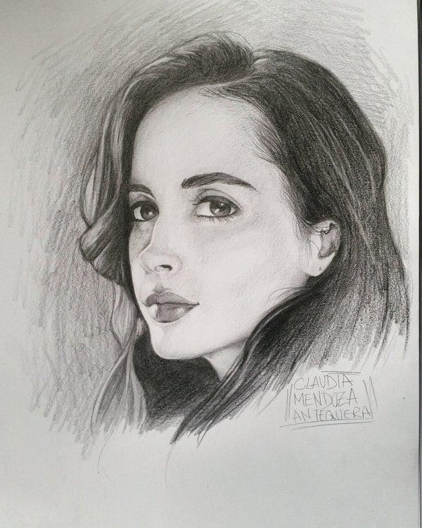dessin portrait jessica jones krysten ritter par clomaticart. Black Bedroom Furniture Sets. Home Design Ideas