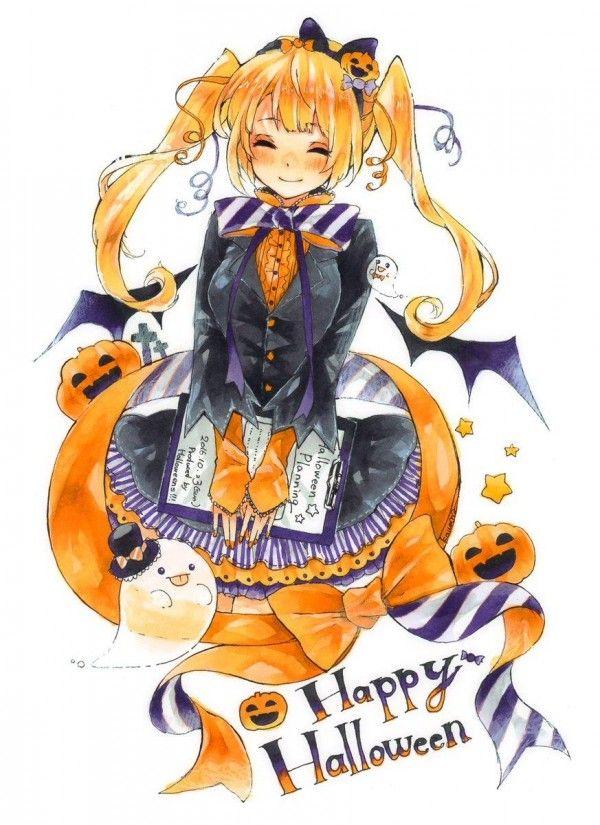 dessin manga halloween