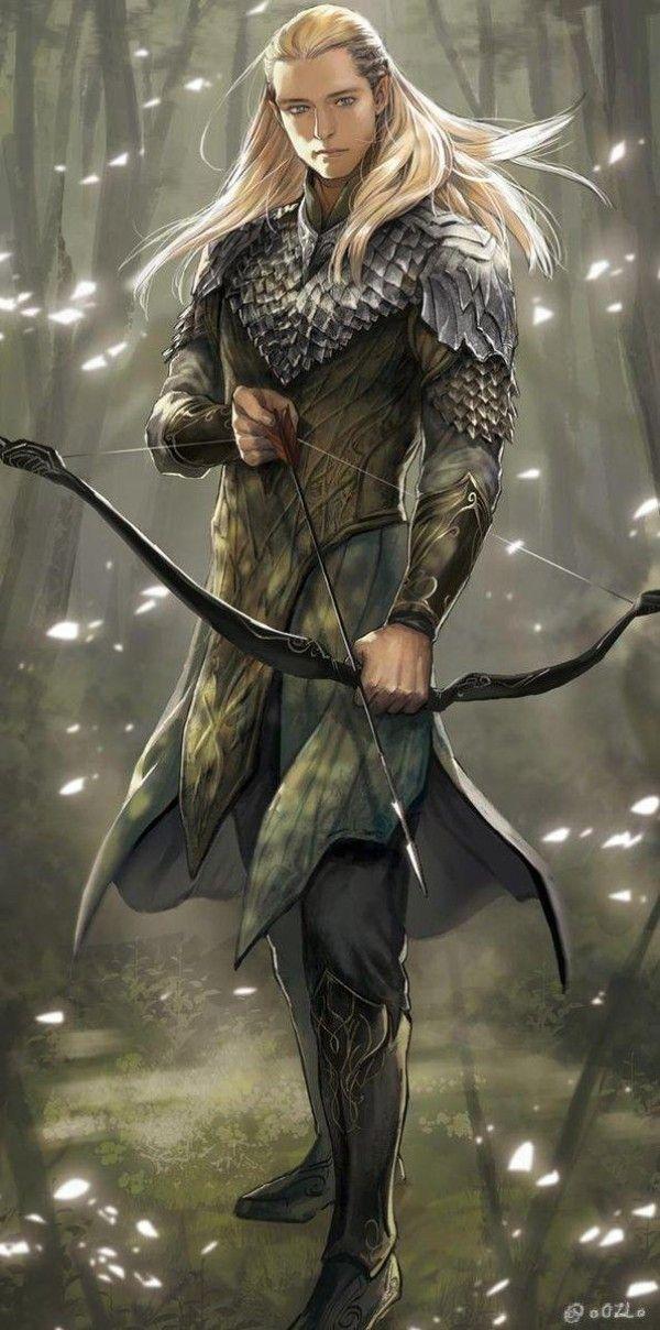 Legolas elfe archer seigneur des anneaux tolkien dessin - Dessiner un elfe ...