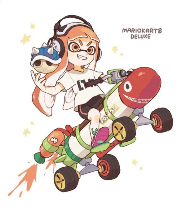 La Manga Karting: TVHLAND: #Splatoon #MarioKart 8 Deluxe #Dessin #Fanart