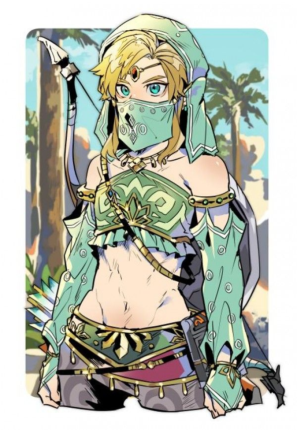 Link The Legend Of Zelda Breath Of The Wild Dessin Kino Cono