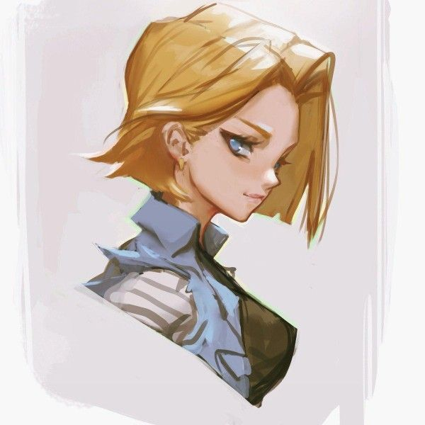 Dragon ball z android c18 dessin fanart jamesghio - Dragon ball z c18 ...