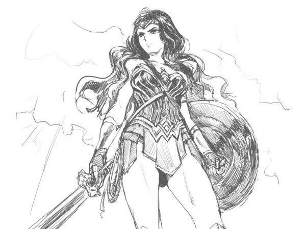Wonder Woman Dessin Fanart Nekomin7