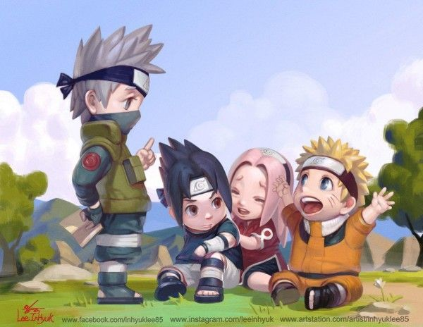 Naruto uzumaki sasuke uchiwa sakura haruno kakashi hatake dessin inhyuklee - Naruto dessin couleur ...