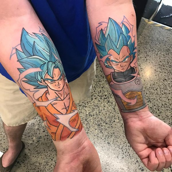 Haut Tatouage manga Dragon Ball Super Vegeta Songoku photo lady_chain EA89