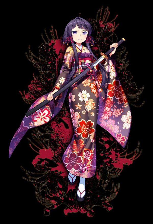 Fille kimono sabre dessin jenevan - Dessin de sabre ...