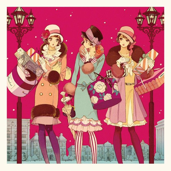 Dessin Shopping shopping mode hiver dessin matuo