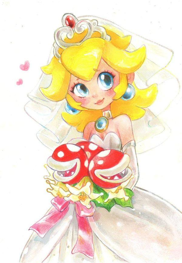 Supermarioodyssey Princessepeach Mariée Mariage