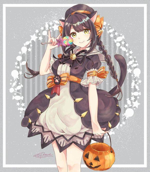 Tvhland Dessin Fille Chat Manga Halloween Artiste