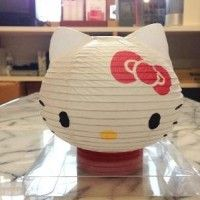 Un lampion papier Hello Kitty