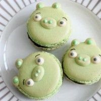 Des macarons cochons d'Angry Birds