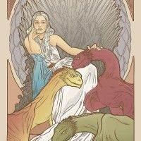 Games of Thrones façon Mucha par Elin Jonsson