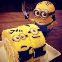 Des rollcakes minions