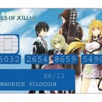 Sticker carte bancaire Tales of Xilia