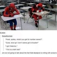Quand #Deadpool et #Spiderman vont à l'école  #Marvel