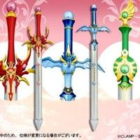 Des stylos à billes en forme d'épées Magic Knight Rayearth #Clamp